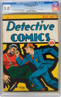 Platinum Age (1897-1937):Miscellaneous, Detective Comics #5 (DC, 1937) CGC VG/FN 5.0 Cream to off-white pages....