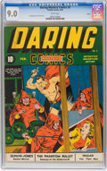 Golden Age (1938-1955):Superhero, Daring Mystery Comics #2 Larson pedigree (Timely, 1940) CGC VF/NM 9.0 White pages. ...