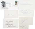 Autographs:Others, Baseball Stars and Jake LaMotta Signed Items Lot 7.... (Total: 7items)