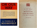 Books:Non-fiction, First Editions by the Great Allied Leaders of World War II,including: Winston Churchill. A Speech by The Prime Mini...(Total: 2 Items)