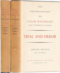 Books:Signed Editions, Chaim Weizmann. Trial and Error: The Autobiography of ChaimWeizmann. Inscribed to Leonard Bernstein. New Yo... (Total: 2Items)