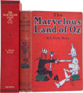 Books:Children's Books, L. Frank Baum. The Marvelous Land of Oz. Chicago: Reilly & Britton Co., 1904.. First edition, first state shee...
