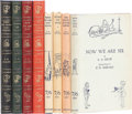 Books:Signed Editions, A. A. Milne. A Superb First Edition Set of the Four Pooh Books, Each Signed by Author A. A. Milne. Near Fine Condition in the ... (Total: 4 Items)