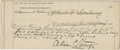 Autographs:Others, 1893 Albert G. Spalding Signed Canceled Mortgage. ...