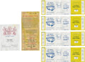 Baseball Collectibles:Tickets, 1991 Gene Autry's Personal Dodger Stadium Tickets Lot of 4. ...