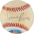Autographs:Baseballs, Ernie Banks Single Signed Portrait Baseball. ...