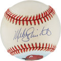 Autographs:Baseballs, Mike Schmidt Single Signed Portrait Baseball. ...
