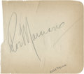 Boxing Collectibles:Autographs, Rocky Marciano and Emile Griffith Signed Album Page. ...