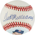 Autographs:Baseballs, Ted Williams Single Signed Portrait Baseball. ...