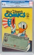 Golden Age (1938-1955):Cartoon Character, Walt Disney's Comics and Stories #46 (Dell, 1944) CGC NM+ 9.6 Cream to off-white pages....