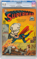 Golden Age (1938-1955):Superhero, Superman #8 (DC, 1941) CGC VF/NM 9.0 White pages....