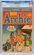 Golden Age (1938-1955):Humor, Archie Comics #11 (Archie, 1944) CGC VF- 7.5 Off-white to white pages....
