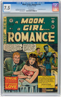 Golden Age (1938-1955):Romance, A Moon, A Girl...Romance #10 (EC, 1949) CGC VF- 7.5 Off-whitepages....