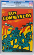 Golden Age (1938-1955):War, Boy Commandos #1 (DC, 1942) CGC VF 8.0 Off-white to white pages....