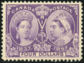 Stamps, $4 Purple (64),...