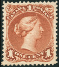 Stamps, 1¢ Brown Red (22),...