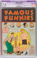Platinum Age (1897-1937):Miscellaneous, Famous Funnies #3 (Eastern Color, 1934) CGC Apparent FN/VF 7.0 Moderate (P) Cream to off-white pages....