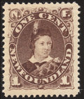 Stamps, 1880-96, 1¢ Brown (43),...
