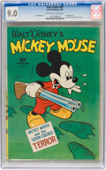 Golden Age (1938-1955):Cartoon Character, Four Color #27 Mickey Mouse (Dell, 1943) CGC VF/NM 9.0 Off-white to white pages....
