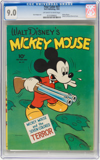 Four Color #27 Mickey Mouse (Dell, 1943) CGC VF/NM 9.0 Off-white to white pages