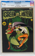 Golden Age (1938-1955):Superhero, Green Lantern #1 (DC, 1941) CGC VF/NM 9.0 Off-white pages....