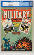 Golden Age (1938-1955):War, Military Comics #3 (Quality, 1941) CGC VF/NM 9.0 Off-white to whitepages....
