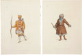 Antiques:Posters & Prints, William Miller . Five Russian Costumes Prints. Five hand-colored stipple engravings from The Costume of the Russian Empire... (Total: 5 Items)