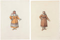 Antiques:Posters & Prints, William Miller. Five Russian Costumes Prints. Five hand-coloredstipple engravings from The Costume of the Russian Empire...(Total: 5 Items)
