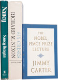 Books:Signed Editions, Three Books Signed by U.S. Presidents Carter, Nixon, and Reagan,including: Jimmy Carter. The Nobel Peace Prize Lect... (Total: 3Items)