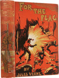 Books:First Editions, Jules Verne. For The Flag. Translated from the French byMrs. Cashel Hoey. London: Sampson Low, Marston & Compan...
