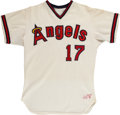 Baseball Collectibles:Uniforms, 1977 Dave LaRoche California Angels Game Worn Jersey. ...