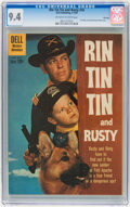 Silver Age (1956-1969):Western, Rin Tin Tin and Rusty #34 File Copy (Dell, 1960) CGC NM 9.4Off-white to white pages....