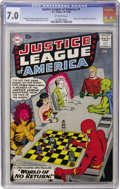 Silver Age (1956-1969):Superhero, Justice League of America #1 (DC, 1960) CGC FN/VF 7.0 Off-whitepages....