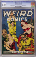 Golden Age (1938-1955):Horror, Weird Comics #4 Larson pedigree (Fox Features Syndicate, 1940) CGCVG/FN 5.0 Off-white to white pages....