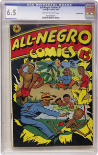 All-Negro Comics #1 Crowley pedigree (All-Negro Comics, 1947) CGC FN+ 6.5 Cream to off-white pages. The epitome of esote...