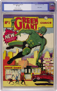 Green Giant Comics #1 (Pelican Publications, 1940) CGC VF 8.0 Off-white to white pages. You're looking at one of the few...