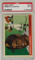 Baseball Cards:Singles (1950-1959), 1955 Topps Roberto Clemente #164 PSA EX 5. The vaunted Clemente rookie exhibits marvelous gloss, however centering issues k...