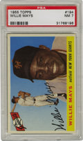 Baseball Cards:Singles (1950-1959), 1955 Topps Willie Mays #194 PSA NM 7. Rarely does one ever see acard from the '55 Topps issue with the amount of gloss or ...