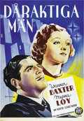 "Movie Posters:Romance, To Mary - with Love (20th Century Fox, 1936). Swedish One Sheet(27.5"" X 39.5""). ..."