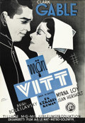 """Movie Posters:Drama, Men In White (MGM, 1934). Swedish One Sheet (27.5"""" X 39.5""""). ..."""