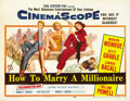 "Movie Posters:Comedy, How to Marry a Millionaire (20th Century Fox, 1953). Half Sheet(22"" X 28""). ..."