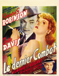 "Movie Posters:Crime, Kid Galahad (Warner Brothers, 1937). Belgian (24.5"" X 32"")...."