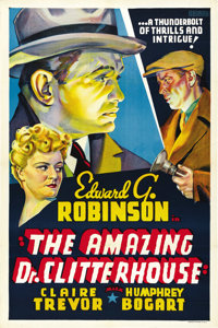 "The Amazing Dr. Clitterhouse (Warner Brothers, 1938). Other Company One Sheet (27"" X 41"")"