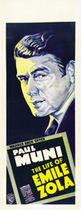 "Movie Posters:Academy Award Winner, The Life of Emile Zola (Warner Brothers, 1937). Australian Daybill (15"" X 40""). ..."