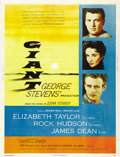 "Movie Posters:Drama, Giant (Warner Brothers, 1956). Poster (30"" X 40""). ..."