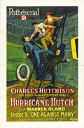 "Movie Posters:Serial, Hurricane Hutch (Pathe', 1921). One Sheet (27"" X 41""). Episode 5 --""One Against Many."" ..."