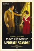 "Movie Posters:Drama, A Private Scandal (Realart, 1921). One Sheet (27"" X 41""). ..."