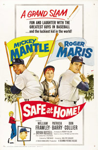 "Safe at Home (Columbia, 1962). One Sheet (27"" X 41"")"