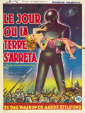 "Movie Posters:Science Fiction, The Day the Earth Stood Still (20th Century Fox, 1951). Belgian(14.5"" X 19""). ..."