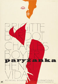 "Une Parisienne (La Parisienne) (United Artists, 1958). Polish (23"" X 33.5"")"